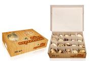 Картонная упаковка на 20 яиц перепелки от производителя .